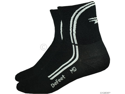 DeFeet AirEator Deline Sock: Black/White&#59; LG