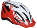 Lazer Vandal Helmet with Visor: White/ Red~ Unisize