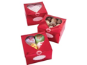 Metallic Treat Box 3/Pkg-Valentine