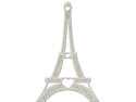 "Die-Cut Grey Chipboard Embellishments-Eiffel Tower 2/Pkg&#59; To 5.2""X3.3"""