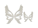 Die-Cut Grey Chipboard Embellishments-Fairy Wings 2 Sets(4 Wings) up to 4x3.8""