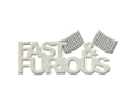 "Die-Cut Grey Chipboard Word-Fast & Furious 5.2""X2"""