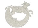 "Die-Cut Grey Chipboard Embellishments-Cow Jumps Over The Moon 3.9""X3.5"""