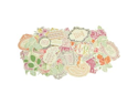 Flora Delight Collectables Cardstock Die-Cuts-Over 50 Pieces&#59; Assorted Sizes