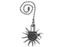 Lazart Spiral Sun Pewter Pull Chain for Ceiling Fans, Lamps & Lighting