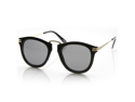 Designer Inspired Rounded P3 Sunglasses with Metal Arms (Shiny Black-Gold)