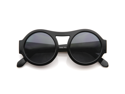 Vintage Inspired Bold Retro Fashion Round Circle Oversized Sunglasses