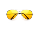 Colorful Premium Silver Metal Aviator Glasses with Color Lens Sunglasses