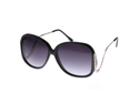 Large  Square Low-Cut Out Temple Womens Oversized Sunglasses Fashion Eyewear