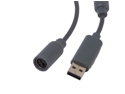 Gray USB Cable Cord Adapter For Xbox 360 Wired Controller 6''