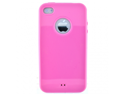 Apple iPhone 4 4S Glossy Style Solid Smooth Color TPU Silicone Case Cover - Light Pink