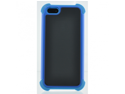 Apple iPhone 5 Triple Layer Shell Protection Gel Case - Blue and Black