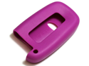 Purple Silicone Key Fob Cover Case Smart Remote Pouches Protection Key Chain Fits: Kia Sportage 11-12