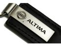 Nissan Altima Black Leather Key Fob Authentic Logo Key Chain Key Ring Keychain Lanyard