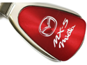 Mazda Miata MX5 Red Teardrop Key Fob Authentic Logo Key Chain Key Ring Keychain Lanyard