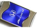 Honda Accord Rectangular Wave Blue Key Fob Authentic Logo Key Chain Key Ring Keychain Lanyard