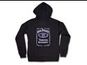Jack Daniels Classic Label Womens Black Zip Sweatshirt