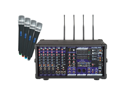 Vocopro PA-PRO-900-2 900W Professional PA Mixer with SDR-3 with 4 UHF Modules & Mics