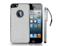 GLAM Glitter Hard Case Bundle for iPhone 5/5S (Sparkle Silver)
