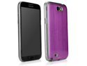 MiniSuit Aluminum Brushed Case for Samsung Galaxy Note 2 (Purple on Black)