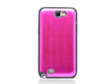 MiniSuit Aluminum Brushed Case for Samsung Galaxy Note 2 (Pink on Black)