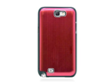 MiniSuit Aluminum Brushed Case for Samsung Galaxy Note 2 (Red on Black)