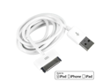 MiniSuit 5 FT extended long sync and charge USB data cable made for Apple iPhone,  iPad, iPod approved by Apple compatible with iPhone 4s, iPad 3 (White)