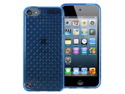 MiniSuit Diamond PLUSH for Apple iPod Touch 5 Rubberized TPU Skin Case Cover (Sky Blue)