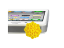 MiniSuit Universal Cell Phone Dustplug for 3.5mm Earphone Jack Cap (Yellow Flower)