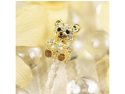 MiniSuit Teddy Bear Universal Cell Phone Dustplug for 3.5mm Earphone Jack Cap (Crystal with Gold Accents)