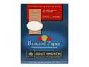 Southworth Company SOURD18ICF Resume Paper- Wove- 32 lb- 8-.50in.x11in.- Ivory