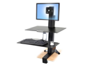 Ergotron - Ergotron WorkFit-S Single LD with Worksurface+