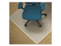 """Lorell Low-pile Carpet Chairmats53"""" Length x 45"""" Width x 0.11"""" Thickness Overall - 12"""" Length x 25"""" Width Lip - Vinyl - Clear"""