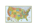 Rand McNally Company RAN528961004 Deluxe United States Laminated Wall Map- 50in.x32in.