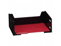 Rubbermaid RUB17601 High-Capacity Stackable Tray- Letter- Side Loading- Black