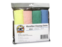 Genuine Joe GJO48261 Microfiber Cleaning Cloth- Lint-free- 16in.x16in.- Assorted