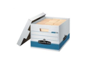 Fellowes Mfg. Co. FEL00789 Quick-Stor Box- 12in.x15-.25in.x10-.25in.- 12-CT- White-Blue
