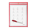 C-Line Products- Inc. CLI40814 Dry Erase Pocket- Reusable- 9in.x12in.- Red