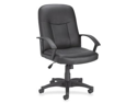 """Lorell Leather Managerial Mid-back ChairBlack Frame - 27.5"""" x 26.3"""" x 42"""" Overall Dimension"""