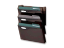 Rubbermaid RUBL16603 Wall File Starter Set- 4 Compartment- 13in.x4in.x17in.- Smoke