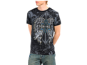 Men's Rhinestone Studded Fleur Di Lis Print Graphic T-shirt