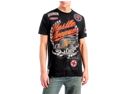 Speed Zone Hustle Ave Black Graphic Men's T-shirt