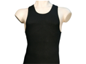 Men's Knit 3 Pack Black Cotton A-Line Tank Top Under Shirts