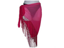 Pink Sheer Triangle Bikini Fringed Cover Up Wrap