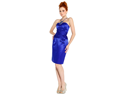 Strapless Satin Sheath Dress Formal Prom Bridesmaid Holiday Party Cocktail Gown