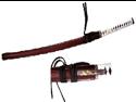 41 inch Musha  Hand Forged Samurai Sword, 1045 steel, Extra dagger, Burg