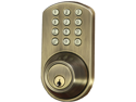 MORNING INDUSTRY INC HF-01AQ TOUCHPAD ELECTRONIC DEAD BOLT (ANTIQUE BRASS)