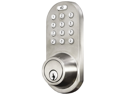 MORNING INDUSTRY INC QF-01SN 3-IN-1 REMOTE CONTROL & TOUCHPAD DEAD BOLT (SATIN NICKEL)