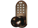 MORNING INDUSTRY INC QKK-01OB 3-IN-1 REMOTE CONTROL & TOUCHPAD DOOR KNOB (OIL RUBBED BRONZE)