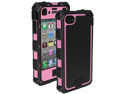 BALLISTIC HA0778-M365 iPhone(R) 4/4S Hard Core(R) Series Case with Holster (Black/Pink)